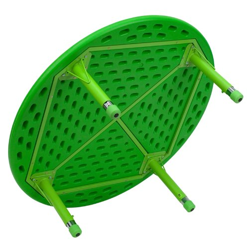 Flash Furniture 45'' Round Green Plastic Height Adjustable Activity Table