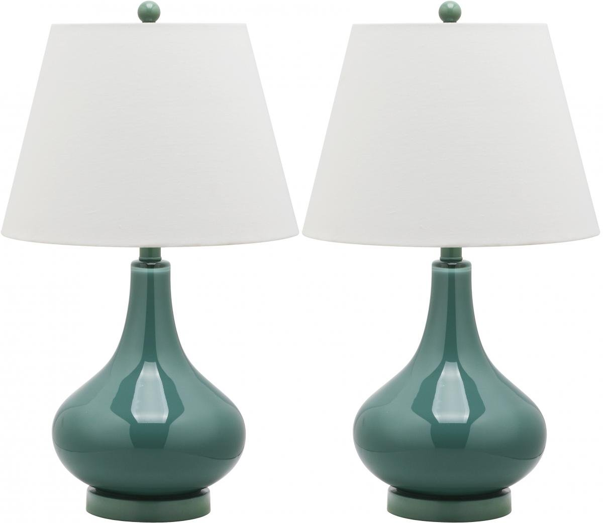Amazon.com: Safavieh Lighting Collection Amy Black Gourd 24 Inch Table Lamp  (Set Of 2): Home U0026 Kitchen