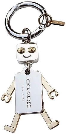 Amazon.com: Coach Metal Robot Llavero cartera Encanto en oro ...