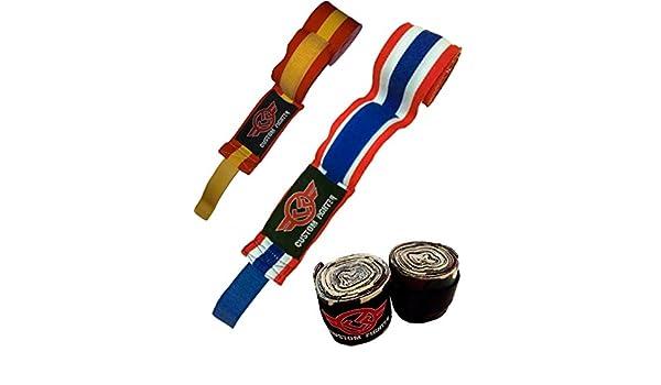 VENDAS de Bandera España camuflaje Boxeo Muay Thai Kick Boxing k1 Tailandia MMA bjj (españa): Amazon.es: Deportes y aire libre
