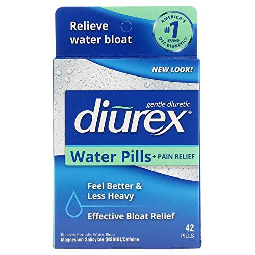 Diurex Water Pills + Pain Relief – Relieve Water Bloat, Cramps, & Fatigue – 42 Count