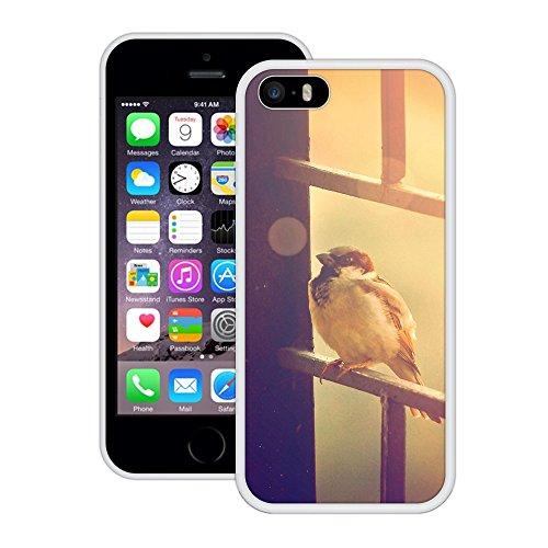 Spatz | Handgefertigt | iPhone 5 5s SE | Weiß Hülle