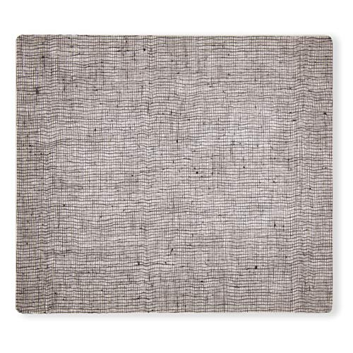 Twist Mat - modern-twist Linen Print Placemat 100% plastic free silicone, waterproof, adjustable, dishwasher safe, Rectangle, Chocolate