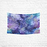 WUTMVING Tapestry Ink Swirl Blue Purple Abstract Hippie Tapestries Wall Hanging Flower Tapestry Wall Hanging Dorm Decor For Living Room Bedroom 60 X 40 Inch