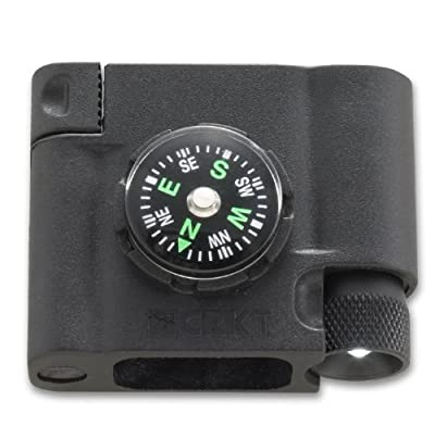 Columbia River Knife and Tool (CRKT) 9703 Survival Bracelet Accessory Compass, LED and Firestarter by Columbia River Knife and Tool (CRKT)