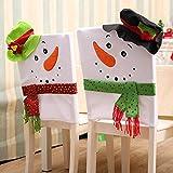 TAOtTAO 2PC Christmas Decoration Chair Cover bag Christmas Snowman Table Decoration (A 2PC)