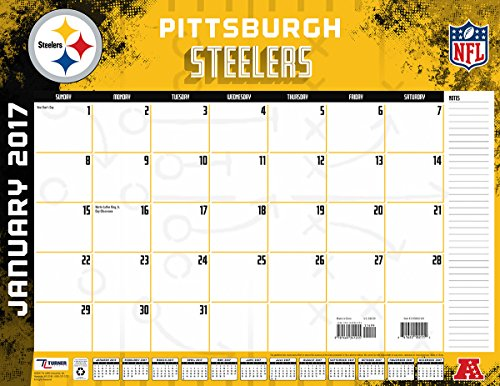 "Turner Licensing Sport 2017 Pittsburgh Steelers Desk Pad Calendar, 22""X17"" (17998061549)"