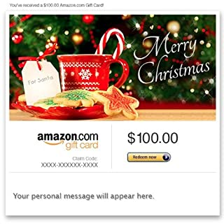 Amazon Gift Card - Email - Merry Christmas (Santa's Cookies) (B00G4IV0C4) | Amazon price tracker / tracking, Amazon price history charts, Amazon price watches, Amazon price drop alerts