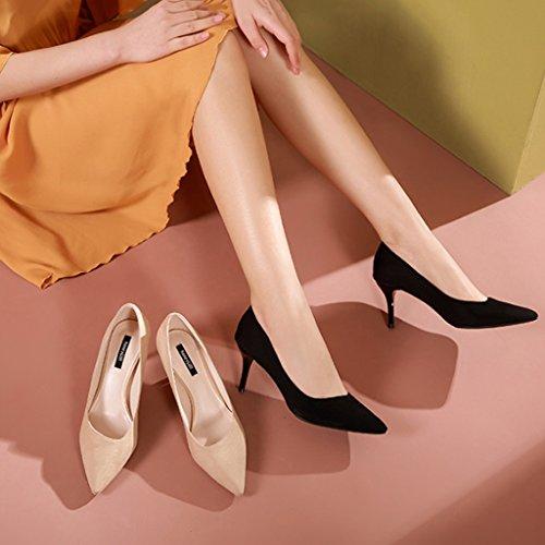 JE Wies Frau Schuhe Pendler Fein Professional Elegant Heels Schuhe shoes mit High fEfvqr1