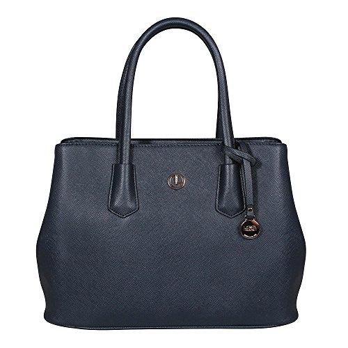 L. CREDI Damen Handtasche Yvonne Marine (blau)