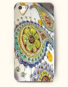 SevenArc Apple iPhone 5 5S Case Paisley Pattern ( Clever Handmade inspired Doodle of Paisleys, Flowers, Swirls )