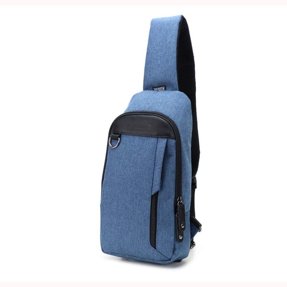 Color : Blue, Size : Free Size Balalafairy Adjustable Strap Pack Nylon Cloth Bag Trend Chest Bag Messenger Bag Men and Women Chest Bag for Outdoors Sport