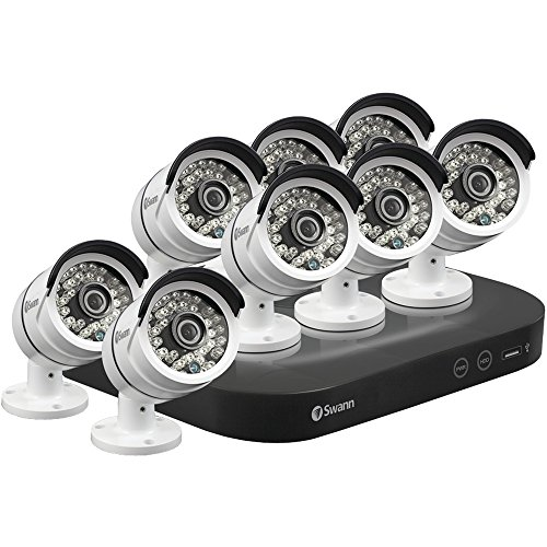 Swann 8-Channel, 8-Camera Outdoor Wired 2TB DVR Surveillance System Black/White SWDVK-847508-US
