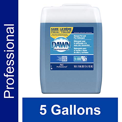 - Dawn Professional Bulk Pot, Pan, and Dish Liquid Dishwashing Soap Detergent Degreaser for Commercial Restaurant, Regular Scent, 5 Gallon Container