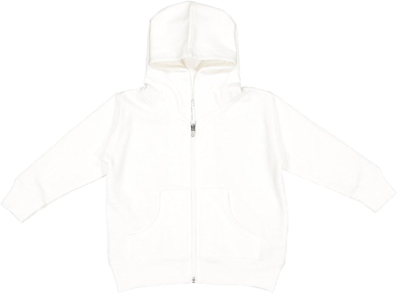 Rabbit Skins Unisex-child Hooded Full Zip Sweatshirt