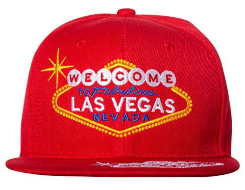Welcome to Fabulous Las Vegas Snapback Cap Hat (Red)