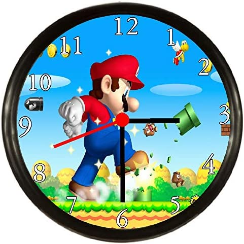 Super Mario Wall Clock Vinyl Wall Clock Art Gift Room Modern Home Record Vintage Decoration Gift for Fans Home /& Office Bedroom Nursery Room Wall Decor Customize Your Clock !