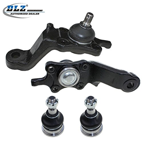 (DLZ 4 Pcs Front Suspension Kit-2 Lower 2 Upper Ball Joint Compatible with 1995 1996 1997 Toyota Tacoma 4WD, 1998 1999 2000 2001 2002 2003 2004 Toyota Tacoma 2.7L 3.4L 4WD 3.4L RWD K90255 K90258 K90259)