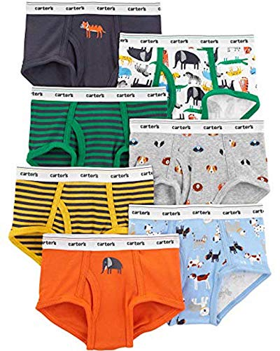 Carter's Boys' Little 7-Pack Underwear, Animals Green, 6-7 by Carter's (Image #1)