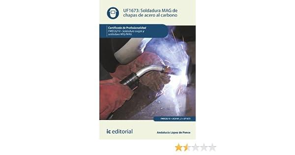 Soldadura MAG de chapas de acero al carbono. FMEC0210 - Soldadura oxigás y soldadura MIG/MAG: Amazon.es: Andalucía López de Ponce: Libros
