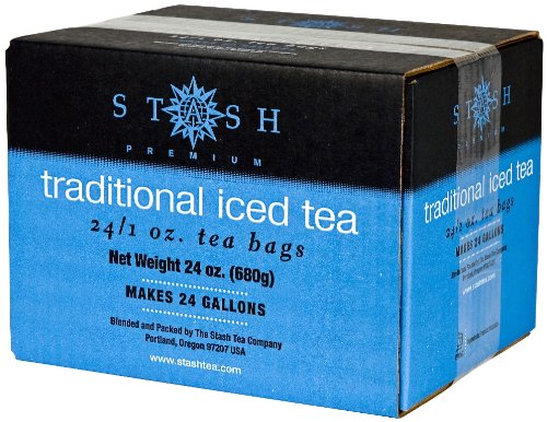 (Stash Tea Traditional Black Tea 1 Ounce Iced Tea Brew Bags (Pack of 24) Individual Black Tea Bags for Use in Teapots Mugs or Cups, Brew Hot Tea or Iced Tea)