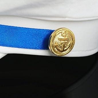 Gleader Bianco Sesso Cappello da marinaio Costume feste mascherata   Amazon.it  Abbigliamento a1619e0c369a