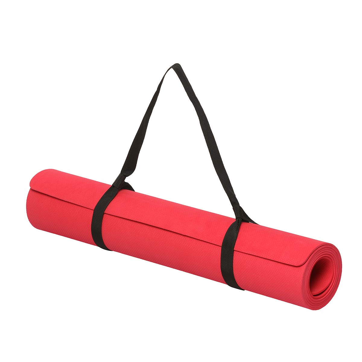 Lifelong 4 mm Thick and Anti-Skid Yoga Exercise Mat with Carrying Strap for Gym Workout
