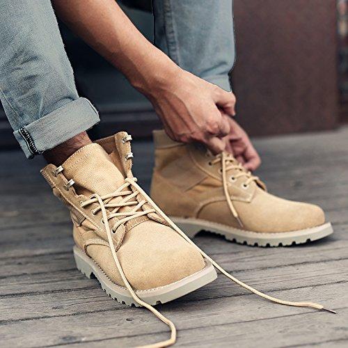 bottes en hautes HL bottes PYL Retro outillage aider Chaussures Martin bottes Angleterre bottes respirante Yellow Sand couleur 42 Fzqwqf