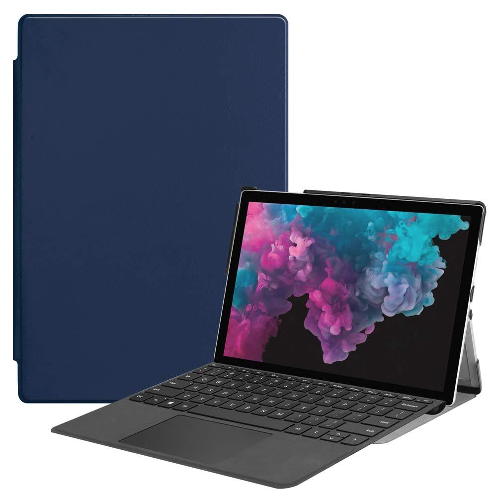 (訳ありセール 格安) Microsoft Surface Pro B07LCHV8Z7 4 5 5 6ケース 高級本革ケース Pro スタンド付き フリップカバー ハンドメイド Microsoft Surface Pro 4 5 6用 (ダークブルー) B07LCHV8Z7, 介護用品専門店たまひこ:668cc929 --- a0267596.xsph.ru