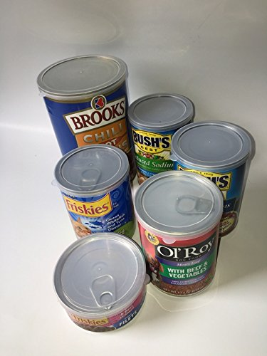 ALAZCO 12pc BPA-Free Can Covers - 2 Large 2 Medium 8 Small Plastic Tight Seal Lids for Canned Goods or Pet Dog Cat Food Food Saver Reusable