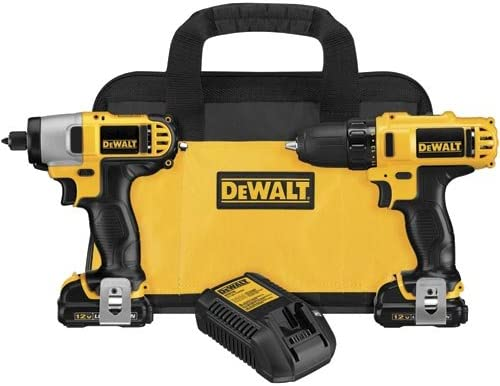 Dewalt DCK211S2R 12-volt MAX Cordless Lithium-Ion Drill Driver and Impact Driver Combo Kit Renewed
