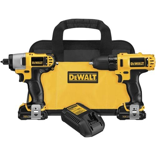 Factory Reconditioned Dewalt DCK211S2R 12-volt MAX Cordless Lithium-Ion Drill Driver and Impact Driver Combo Kit