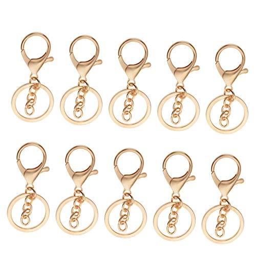 [해외]NATFUR 10Pack Trigger Swivel Clip Lobster Clasp Snap Hook Keychain Key Ring Crafts Elegant Novelty Key-Chain for Women for Men Holder for Girls for Gift Novelty / NATFUR 10Pack Trigger Swivel Clip Lobster Clasp Snap Hook Keychain K...