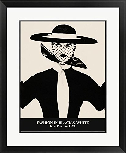 Framed Fashion in Black and White 1950 by Irving Penn Photograph Art Print Poster