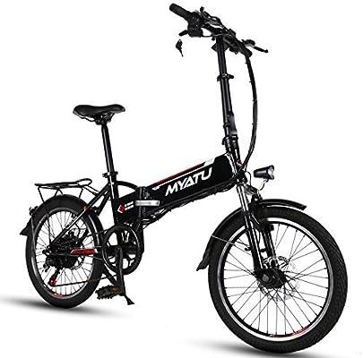 MYATU 250W 48V 8.8Ah batería de Litio Fuerte 20 Pulgadas Bicicleta ...