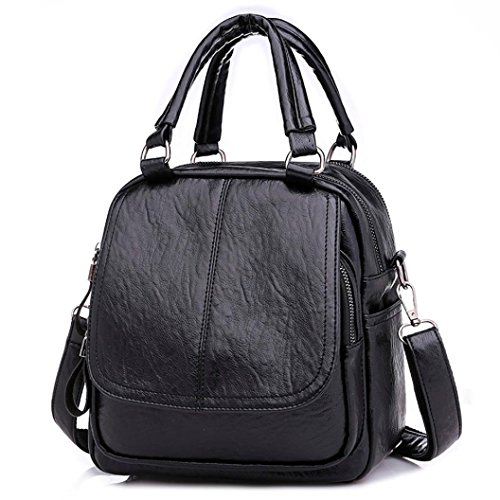 Women Girl Backpack,Realdo Fashion Versatile Solid Converted Handbag Satchel Daypack ()