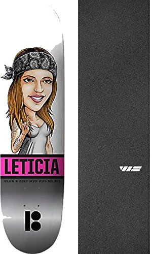 Plan B Skateboards Leticia Bufoni Mvp Horns Skateboard Deck   8  X 31 75  With Jessup Ws Die Cut Griptape   Bundle Of 2 Items