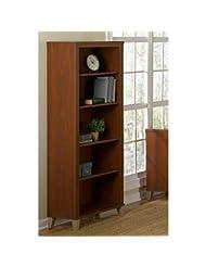 Somerset 5 Shelf Bookcase in Hansen Cherry