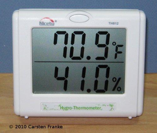 Temperature Humidity Meter - Hygrometer for Hydroponics, Greenhouse, Gardening Model: TH812 (Newborn, Child, Infant)