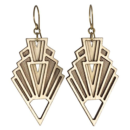 VISION | art deco wood earrings