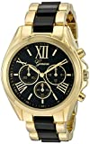 Geneva Women's GV/1000BKBK Multi-Function Dial Gold-Tone and Black Bracelet Watch