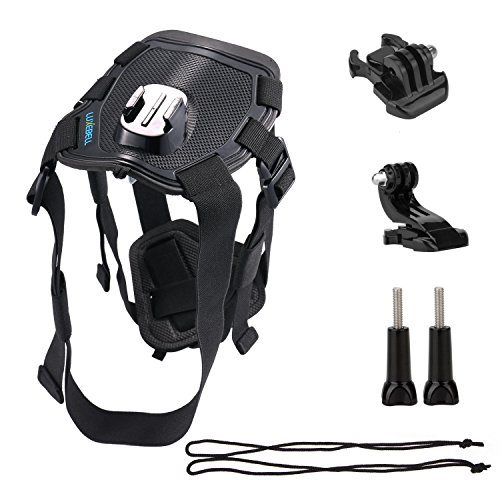 Luxebell Dog Harness Mount for Gopro Hero 4 Session Black Silver Hero+ LCD 3+ 3 2 1 Camera and Sjcam Sj4000 Sj5000