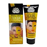 Black Mask Purifying Peeloff Mask Reviews Peel-Off Gold Mask - Gold Collahen Whitening Anti-Wrinkle Peel Off Mask (3 Pack) by One & Only USA
