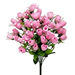 70-Mini-Roses-Buds-PINK-Silk-Wedding-Flowers-Centerpieces-Bridal-Bouquet-NEW