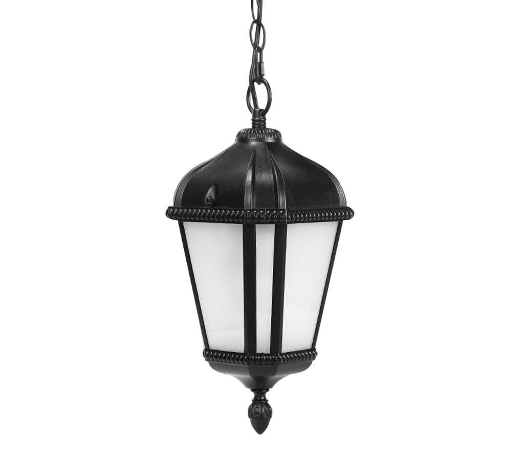 TJZY Novely Chandeliers-Chandelier+Pendant Light Al Lamp Body Glass Lampshade Outdoor Waterproof for Balcony Hallway Courtyard Garden E27, Creative Decorative Lighting