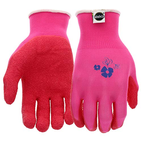 West Chester Miracle-Gro MG37168 Stretch Knit Gardening Gloves with Latex Coated Palm: Women