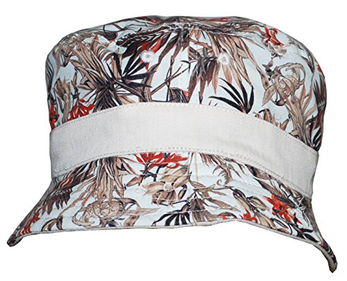 Sean John Men's Reversible Bucket Hat (L/XL, Khaki/Floral)