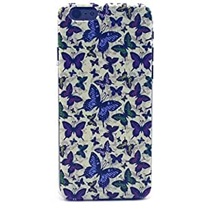 iPhone 5C Case - LUOLNH Fashion Style Colorful Painted Many purple butterfly Hard Case Back Cover Protector Skin For iPhone 5C