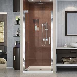 DreamLine Elegance 34-36 in. W x 72 in. H Frameless Pivot Shower Door in Chrome, SHDR-4134720-01
