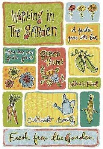 KAREN FOSTER Design Acid and Lignin Free Scrapbooking Sticker Sheet, My Garden